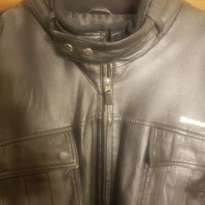 LIVE MECHANICS LEATHER JACKET
